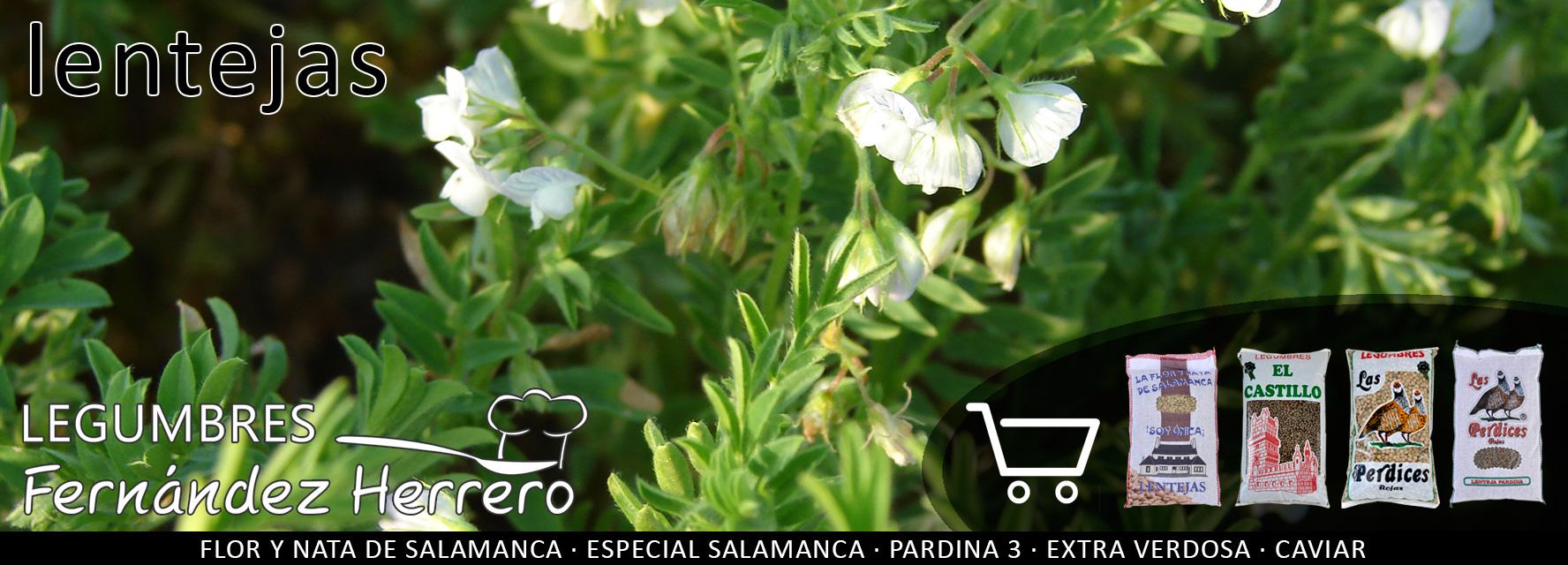Lentejas: Lentajas de la Armuña, caviar, Salamanca, castellana, rubia, pardina, pelada amarilla, pelada roja